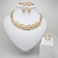 Wholesale perles nigérianes bijoux de mariage set de bijoux de bijoux de couleur doli de mariée Dubai d'africain perles collier bracelet ensembles de bijoux
