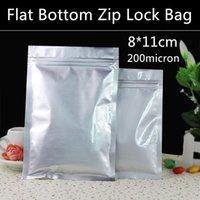 400pcs al por mayor / porción de 8 cm * 11cm 200micron papel de aluminio, bolsas zip Freeze bolsa de alimentos, bolsas resellables al por menor, bolsas secas