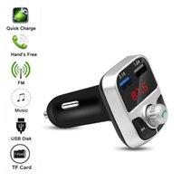 자동차 블루투스 충전기 MP3 플레이어 자동차 충전기 블루투스 FM 송신기 무선 핸즈프리 오디오 수신기 듀얼 USB 빠른 충전기 도매