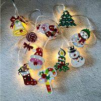 Рождество светодиодные Строка Мультфильм Xmas Tree Motif 1,65 10 LED / 3m 20 LED Рождество Наружное освещение партии украшения 11 стилей LJJP627
