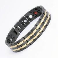 새로운 에너지 치유 팔찌 스테인레스 스틸 자기 치료 팔찌 패션 스테인레스 스틸 남성 Wirstband Gertanium Jewelry1