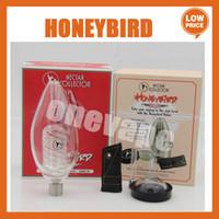 Kit di alette Delux NC con titanio Supporta Quarzt Nail ceramica 3 tipi di punte per tubi in vetro acqua delux Mini vetro Bong Bong Honeybird Delux Kit ITAX
