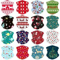 Winter Warm Bandana Kids Multifunction Neck Gaiter Christmas Scarf for Cycling Windproof Xmas Party Favor