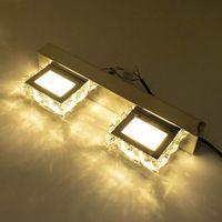 2 światła Nowoczesne wodoodporne lustro LED Ściana Light Łazienka Nordic Art Decor Crystal Ściana Oświetlenie Crystal Kince Lampa