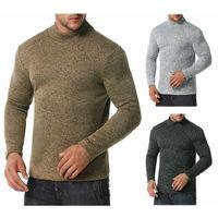 Męskie swetry 2021 Mężczyzna sweter Casual wysokiej szyjki śniegu Ciepłe drapanie wielkości europejskiej