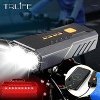 Trlife 4000 مللي أمبير دراجة ضوء usb قابلة للشحن ركوب الدراجة العلوي للماء mtb دراجة الجبهة الدراجات مصباح دراجة اكسسوارات 1