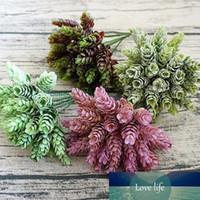 30 têtes artificielles petites feuilles d'arbres en plastique d'ananas flores fausses fleurs bricolage usine de décoration de mariage feuille verte