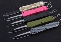 5 cores impulso Médio fivela mini-chave autotf EDC faca de bolso facas de alumínio xmas gota faca presente 440C tanto D / E lâmina a2075
