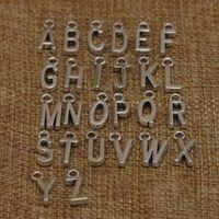 Vendita calda 26 pendente della lettera iniziale fascino d'argento antico di bronzo per BRACCIALI collana Piccola A-Z Alfabeto fai da te fascino gioielli e accessori