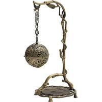 Chinesische Räucherbrenner Drachen Hängen Rückfluss Räucherbrenner Home Luftreinigung Ornament Bronze Farbe Metalllegierung Weihrauchbrennerhalter
