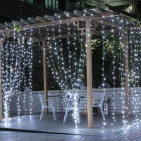 yıldız dolu ışık Noel gökyüzünde perdesi led dize düğün dekorasyon açık yağmur geçirmez fener 300leds 3 * 3m sıcak ışık beyaz ışık yanar