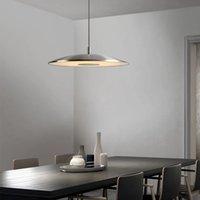 شمال أوروبا مطعم قلادة مصابيح بسيطة واحدة رئيس جولة ضوء الجدول الإضاءة LED إضاءة غرفة الطعام