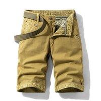 Мужские шорты Luulla 2021 летние мужчины мода стрейч хлопок грузовые повседневные печатные манжеты ночь большой высокий высокий плюс размер 28-38