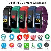 ID115 Plus Bracelet Smart Bracelet Fitness Tracker Smart Watch Smart Work Récompense cardiaque Moniteur universel Android Cellphones avec boîte de vente au détail MQ20