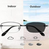 2020 multifocale progressive Lunettes de lecture photochromique Outdoor Femmes Hommes Verre Métal Frame lunettes de presbyte Anti Bleu