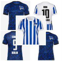 20 21 Hertha House Home Berlin Bsc Soccer Tehersys Duda Lowen Kalou Kopke Mittelstadt Torunarigha Kit 2020 2021 7 Футбольная футболка Piatek Away.