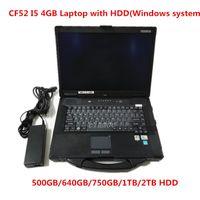 TOP de Qualidade Toughbook CF52 laptop diagnóstico para Panasonic CF-52 CPU 4GB I5 RAM pode trabalhar para alldata estrela mb macio-ware c4 c5 c6