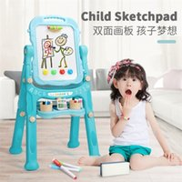 1 مجموعة ألعاب تعليمية للأطفال 46x26x75cm الطفل سحر الطفل الكتابة كتابات السبورة المسح الحامل 360 درجة فليب 201116