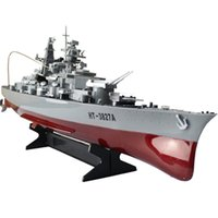 """RC Boat Barca ad alta velocità Modello militare Series Blattleship 1/360 RC 28 """"Waship Cruiser Simulazione Battleship Bismarck Giocattoli per bambini 201204"""