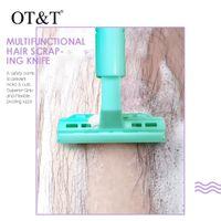 OTT 6pcs / set di rimozione del rasoio del rasoio del fronte di corpo dei capelli Coltello Donne Strumento Trucco del sopracciglio del labbro Peloso 0293