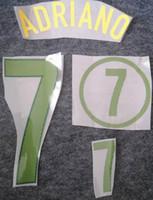 2004 Brasil-grüner Druck retro Fußball NameSet RONALDO KAKA'hot Fußball ADRIANO Stanzen Schriftzug Brasilien Fußball Aufkleber beeindruckt