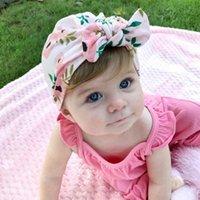 Caps Hüte 1 Stück Lytwtw's Kinder Blume Bowknot Kinder Bow Cap Baby Hut Geborene Mädchen Kleidung Zubehör Infant Beanie Turban Solid