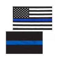 USA wiederverwendbarer Flags 90x150cm Tragbare Thin Blue faltbare Banner amerikanischer Stoff Fünf-Sterne-Flagge Spitz 4 9yh G2