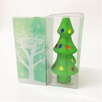 2021 Tasche Silikonrohr Weihnachtsbaum Raucher Rohre 125 * 56mm Tragbare Tabak Handlöffel Rauch Zubehör Ölbrenner Wasser Glas Dicke Schüssel