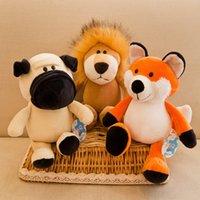25/35 cm carino peluche giocattolo animale volpe peluche procione giraffa orangutan monkey tiger leone elefante cane tesoro regalo del bambino LJ201126