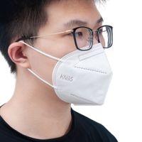 مخصص مخصص 5 رقائق الوجه قناع واقية قابلة لإعادة الاستخدام KN95 قناع التنفس في المخزون