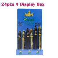Maw Büküm Alt Ayarlanabilir Gerilim Pil 510 Konu Kalın Yağ Voltajı 3.3-4.8 V 650 mah 900 mAh 1100 mAh 24 adet bir ekran kutusu DHL ücretsiz