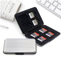 Aluminium-Speicherkarten-Hülle 16 Slots (8 + 8) für Micro SD SD / SDHC / SDXC-Karten-Speicher-Halter Neukarten-Hülle heiß