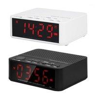 Desktop Wireless Bluetooth-динамики будильник FM Radio TF Card MP3 Player Line в громкой связи с микрофоном Светодиодный дисплей1