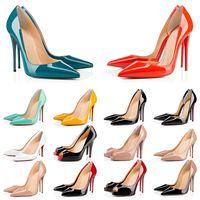 Red Bottom Wth Box Heaver Heaver Bottoms Womens Stiletto Heels 8 10 12cm Luxurys Ponto de Couro Toe Bomba Senhora Loafers Designers Tamanho 35-42