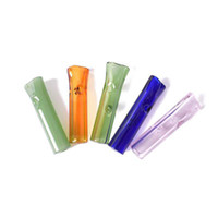 8mm mini dicas de filtro de vidro com boca rodada plana para papéis de rolamento crus suporte de cigarro de tabaco pyrex tubo filtro pirex vidro fumar