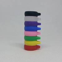 실리콘 vape 밴드 17mm 교수형 반지 가방 17 * 6 * 2mm 8 색 사용자 정의 로고 13-18mm 탱크 mod ecigarette