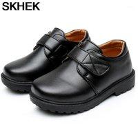 Skhek Boys Scarpe in pelle Nero Autunno Scarpe per bambini Ragazzi e ragazze Pelle per bambini Baby Gomma Pattern Chaussure Enfant1