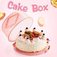 البلاستيك حاوية كب كيك يده عيد المحمولة كعكة تخزين مربع كعكة مربع المطبخ أداة المعمرة 1