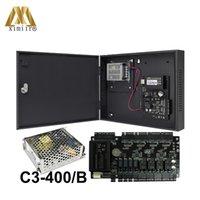 ZK C3-400 Türzugriffskontrollsystem 4 Türen Zugriffskontrolle Zugangskontrollplatine + Netzteilbox und Batteriefunktion