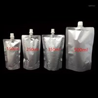 100 pcs 150ml / 250ml / 350ml / vazio Doypack puro folha de alumínio saco de bico bebendo leite de leite em pé bico mylar party pack bolsa jelly1
