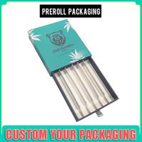 caja de embalaje pre roll resistente al botón de silicona personalizadas niño con el delantero preroll CDB vaporizador cartucho de envases