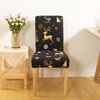 스판덱스 의자 커버 이동식 의자 커버 스트레치 다이닝 시트 덮개 덮개 탄성 슬립 커버 크리스마스 연회 웨딩 장식 WQ515