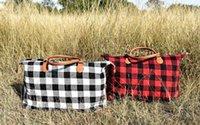 Buffalo Check Handbag Red Black Plaid Bags Large Capacity Travel Tote With Pu Handle Storage Maternity Bags Ooa6384 bbysUZn ladyshome