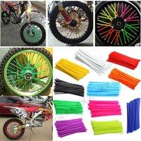 Jqtuning6pcs roda capa capa de motocicleta capa tubos peles de roda de bicicleta Protetor fluorescente decoração motocicleta acessórios