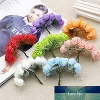 144pcs Artificial Mini Foam Flowers Rose Tulle Red DIY Gift ...