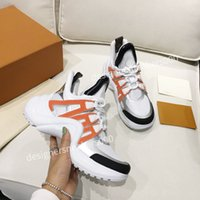 Louis Vuitton LV Erkekler Paris Rahat Ayakkabılar Eğitmenler Baba Ayakkabı Sneaker Siyah Boy Erkek Bayan Beyaz En İyi Kalite Koşucu Chaussures LH190216