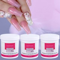Acrílico Pós Líquidos Líquidos 120ml Pó estendido Gel Nail Polonês Limpar Rosa Branco Cinzelando Cristal 3d Art Manicure