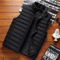 Aiwetin الرجال أكمام سترة السترات الشتاء الأزياء الذكور القطن مبطن سترة معاطف الرجال الوقوف الياقة الدافئة الصدريات الملابس 5xl 201114