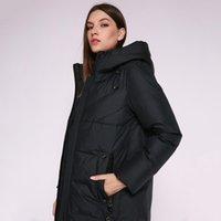 Женская пуховика Parkas Aorryvla 2021 зимняя мода куртка капюшон длинный парку толстые теплые биологические женщины