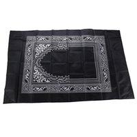 60 * 100 cm Alfombra de oración musulmana con brújula impermeable impermeable al aire libre oración al aire libre alfombra portátil musulmán viaje oración colchoneta gran nave rápido